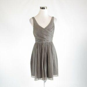 Gray  J. CREW sheer overlay A-line dress 6P